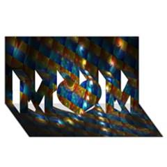 Fractal Fractal Art Digital Art  MOM 3D Greeting Card (8x4)