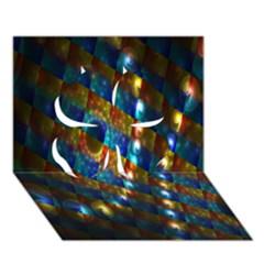 Fractal Fractal Art Digital Art  Clover 3D Greeting Card (7x5)