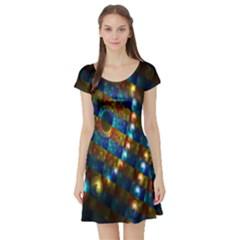 Fractal Fractal Art Digital Art  Short Sleeve Skater Dress
