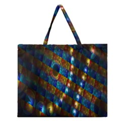 Fractal Fractal Art Digital Art  Zipper Large Tote Bag