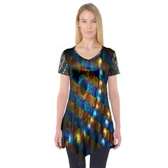 Fractal Fractal Art Digital Art  Short Sleeve Tunic