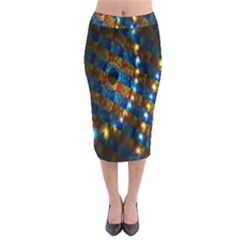 Fractal Fractal Art Digital Art  Midi Pencil Skirt