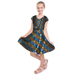 Fractal Fractal Art Digital Art  Kids  Short Sleeve Dress
