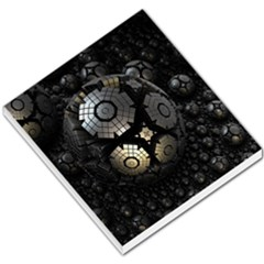 Fractal Sphere Steel 3d Structures  Small Memo Pads