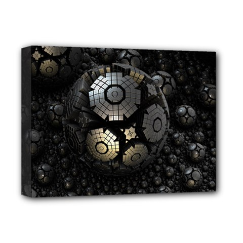 Fractal Sphere Steel 3d Structures  Deluxe Canvas 16  x 12