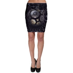 Fractal Sphere Steel 3d Structures  Bodycon Skirt