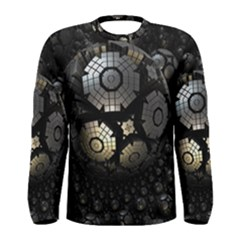 Fractal Sphere Steel 3d Structures  Men s Long Sleeve Tee