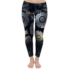 Fractal Sphere Steel 3d Structures  Classic Winter Leggings