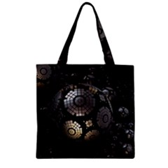 Fractal Sphere Steel 3d Structures  Zipper Grocery Tote Bag
