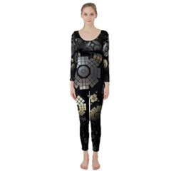 Fractal Sphere Steel 3d Structures  Long Sleeve Catsuit