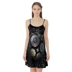 Fractal Sphere Steel 3d Structures  Satin Night Slip