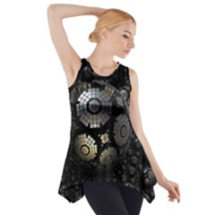 Fractal Sphere Steel 3d Structures  Side Drop Tank Tunic