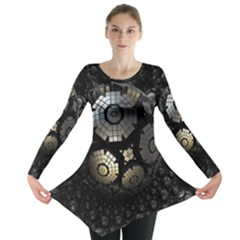 Fractal Sphere Steel 3d Structures  Long Sleeve Tunic