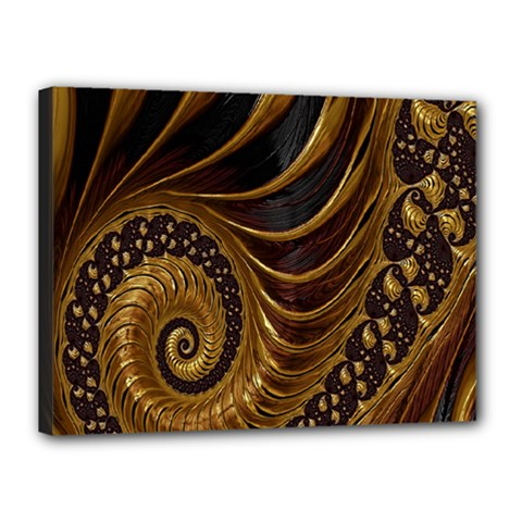 Fractal Spiral Endless Mathematics Canvas 16  x 12