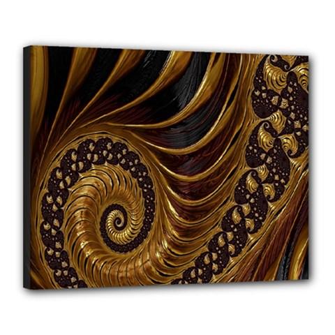 Fractal Spiral Endless Mathematics Canvas 20  x 16