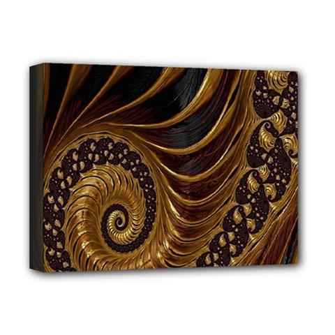 Fractal Spiral Endless Mathematics Deluxe Canvas 16  x 12