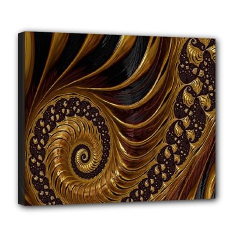 Fractal Spiral Endless Mathematics Deluxe Canvas 24  x 20