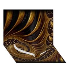 Fractal Spiral Endless Mathematics Heart Bottom 3D Greeting Card (7x5)