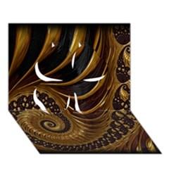 Fractal Spiral Endless Mathematics Clover 3D Greeting Card (7x5)