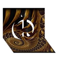 Fractal Spiral Endless Mathematics Peace Sign 3D Greeting Card (7x5)