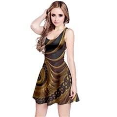 Fractal Spiral Endless Mathematics Reversible Sleeveless Dress