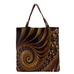Fractal Spiral Endless Mathematics Grocery Tote Bag