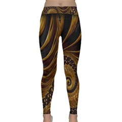 Fractal Spiral Endless Mathematics Classic Yoga Leggings