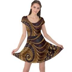Fractal Spiral Endless Mathematics Cap Sleeve Dresses