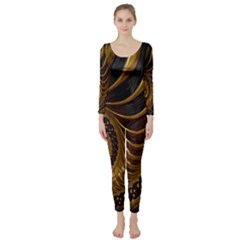 Fractal Spiral Endless Mathematics Long Sleeve Catsuit