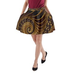 Fractal Spiral Endless Mathematics A-Line Pocket Skirt