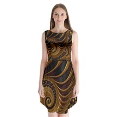 Fractal Spiral Endless Mathematics Sleeveless Chiffon Dress