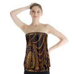 Fractal Spiral Endless Mathematics Strapless Top