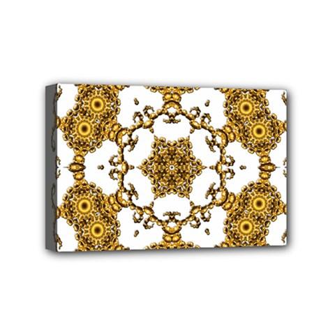 Fractal Tile Construction Design Mini Canvas 6  x 4