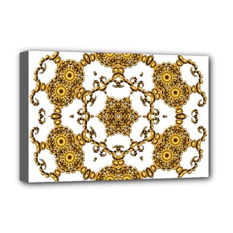Fractal Tile Construction Design Deluxe Canvas 18  x 12