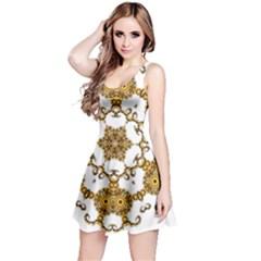 Fractal Tile Construction Design Reversible Sleeveless Dress