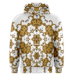 Fractal Tile Construction Design Men s Zipper Hoodie