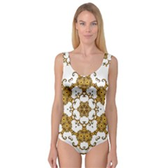 Fractal Tile Construction Design Princess Tank Leotard