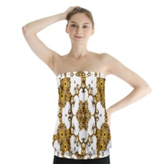Fractal Tile Construction Design Strapless Top
