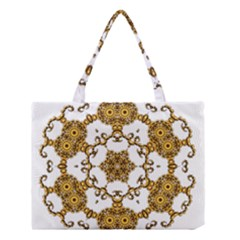 Fractal Tile Construction Design Medium Tote Bag