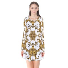 Fractal Tile Construction Design Flare Dress