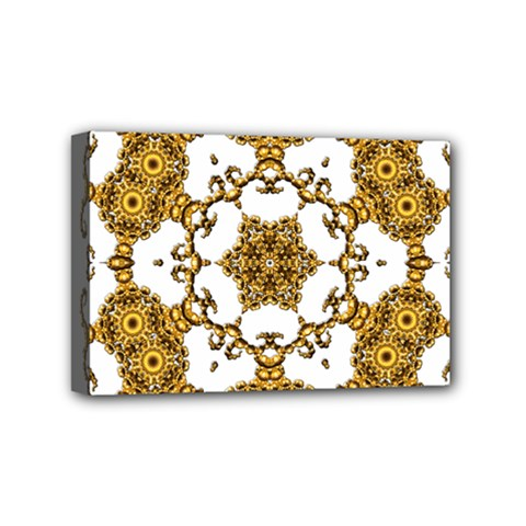 Fractal Tile Construction Design Mini Canvas 6  x 4