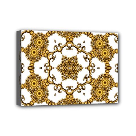 Fractal Tile Construction Design Mini Canvas 7  x 5