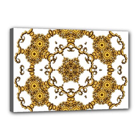 Fractal Tile Construction Design Canvas 18  x 12