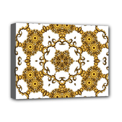 Fractal Tile Construction Design Deluxe Canvas 16  x 12