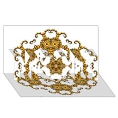 Fractal Tile Construction Design MOM 3D Greeting Card (8x4)