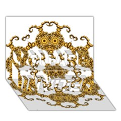 Fractal Tile Construction Design YOU ARE INVITED 3D Greeting Card (7x5)