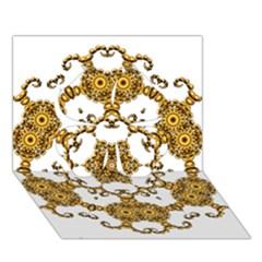 Fractal Tile Construction Design Clover 3D Greeting Card (7x5)