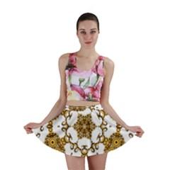 Fractal Tile Construction Design Mini Skirt