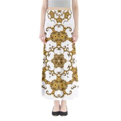 Fractal Tile Construction Design Maxi Skirts