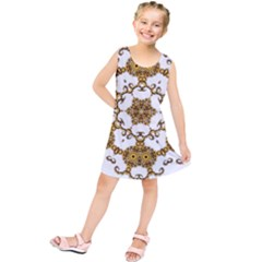 Fractal Tile Construction Design Kids  Tunic Dress